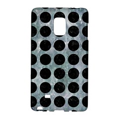 Circles1 Black Marble & Ice Crystals Galaxy Note Edge by trendistuff