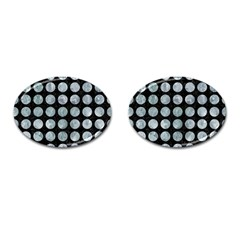 Circles1 Black Marble & Ice Crystals (r) Cufflinks (oval) by trendistuff