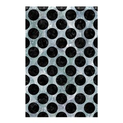 Circles2 Black Marble & Ice Crystals Shower Curtain 48  X 72  (small)  by trendistuff