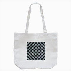 Circles2 Black Marble & Ice Crystals (r) Tote Bag (white) by trendistuff