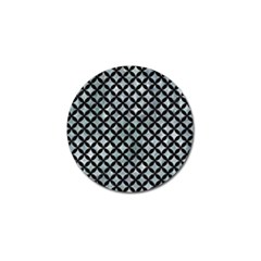 Circles3 Black Marble & Ice Crystals Golf Ball Marker by trendistuff