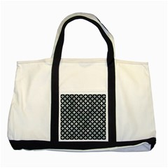 Circles3 Black Marble & Ice Crystals Two Tone Tote Bag by trendistuff