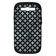Circles3 Black Marble & Ice Crystals Samsung Galaxy S Iii Hardshell Case (pc+silicone) by trendistuff