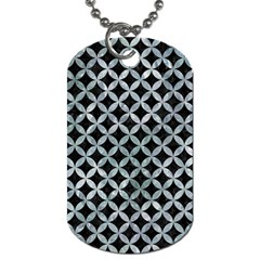 Circles3 Black Marble & Ice Crystals (r) Dog Tag (two Sides) by trendistuff