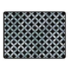 Circles3 Black Marble & Ice Crystals (r) Fleece Blanket (small)