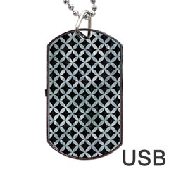 Circles3 Black Marble & Ice Crystals (r) Dog Tag Usb Flash (one Side) by trendistuff