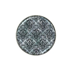 Damask1 Black Marble & Ice Crystals Hat Clip Ball Marker (10 Pack) by trendistuff