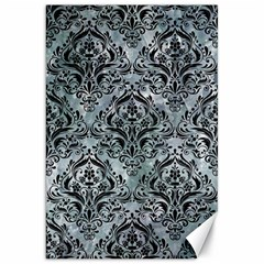 Damask1 Black Marble & Ice Crystals Canvas 20  X 30   by trendistuff