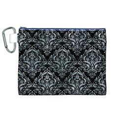 Damask1 Black Marble & Ice Crystals (r) Canvas Cosmetic Bag (xl) by trendistuff