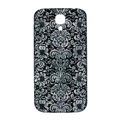 Damask2 Black Marble & Ice Crystals (r) Samsung Galaxy S4 I9500/i9505  Hardshell Back Case by trendistuff