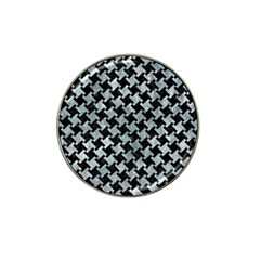 Houndstooth2 Black Marble & Ice Crystals Hat Clip Ball Marker (10 Pack) by trendistuff