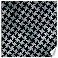Houndstooth2 Black Marble & Ice Crystals Canvas 12  X 12   by trendistuff