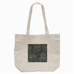 Hexagon1 Black Marble & Ice Crystals Tote Bag (cream) by trendistuff