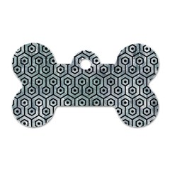 Hexagon1 Black Marble & Ice Crystals Dog Tag Bone (one Side) by trendistuff