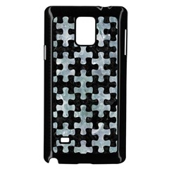 Puzzle1 Black Marble & Ice Crystals Samsung Galaxy Note 4 Case (black) by trendistuff