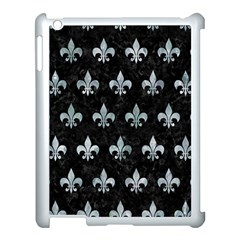 Royal1 Black Marble & Ice Crystals Apple Ipad 3/4 Case (white) by trendistuff
