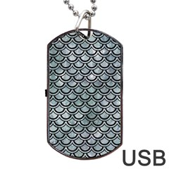 Scales2 Black Marble & Ice Crystals Dog Tag Usb Flash (two Sides) by trendistuff