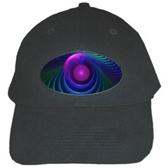 Beautiful Rainbow Marble Fractals In Hyperspace Black Cap by jayaprime