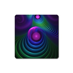 Beautiful Rainbow Marble Fractals In Hyperspace Square Magnet by jayaprime