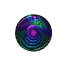 Beautiful Rainbow Marble Fractals In Hyperspace Hat Clip Ball Marker by jayaprime