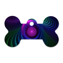 Beautiful Rainbow Marble Fractals In Hyperspace Dog Tag Bone (two Sides) by beautifulfractals
