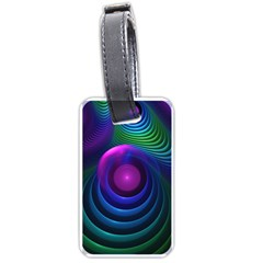 Beautiful Rainbow Marble Fractals In Hyperspace Luggage Tags (one Side)  by jayaprime