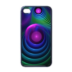 Beautiful Rainbow Marble Fractals In Hyperspace Apple Iphone 4 Case (black) by jayaprime