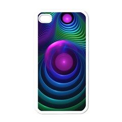 Beautiful Rainbow Marble Fractals In Hyperspace Apple Iphone 4 Case (white) by jayaprime