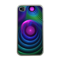 Beautiful Rainbow Marble Fractals In Hyperspace Apple Iphone 4 Case (clear) by jayaprime
