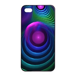 Beautiful Rainbow Marble Fractals In Hyperspace Apple Iphone 4/4s Seamless Case (black) by jayaprime