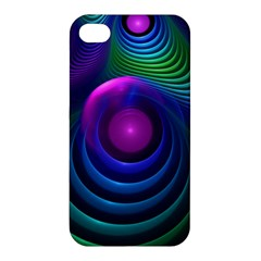 Beautiful Rainbow Marble Fractals In Hyperspace Apple Iphone 4/4s Hardshell Case by jayaprime