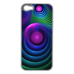 Beautiful Rainbow Marble Fractals In Hyperspace Apple Iphone 5 Case (silver) by jayaprime