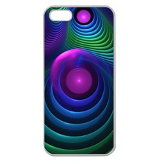 Beautiful Rainbow Marble Fractals In Hyperspace Apple Seamless Iphone 5 Case (clear) by jayaprime