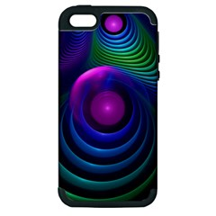 Beautiful Rainbow Marble Fractals In Hyperspace Apple Iphone 5 Hardshell Case (pc+silicone) by jayaprime