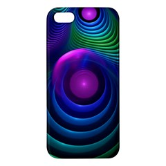 Beautiful Rainbow Marble Fractals In Hyperspace Apple Iphone 5 Premium Hardshell Case by jayaprime