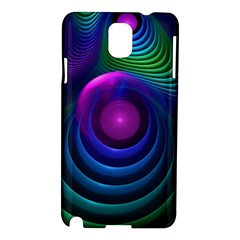 Beautiful Rainbow Marble Fractals In Hyperspace Samsung Galaxy Note 3 N9005 Hardshell Case by jayaprime