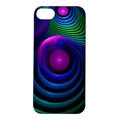 Beautiful Rainbow Marble Fractals In Hyperspace Apple Iphone 5s/ Se Hardshell Case by jayaprime