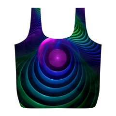 Beautiful Rainbow Marble Fractals In Hyperspace Full Print Recycle Bags (l)  by jayaprime