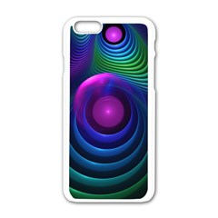 Beautiful Rainbow Marble Fractals In Hyperspace Apple Iphone 6/6s White Enamel Case by jayaprime