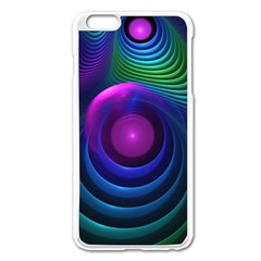 Beautiful Rainbow Marble Fractals In Hyperspace Apple Iphone 6 Plus/6s Plus Enamel White Case by jayaprime