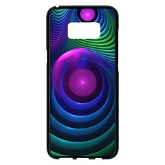 Beautiful Rainbow Marble Fractals In Hyperspace Samsung Galaxy S8 Plus Black Seamless Case by jayaprime