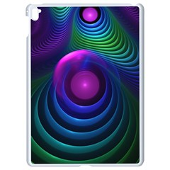 Beautiful Rainbow Marble Fractals In Hyperspace Apple Ipad Pro 9 7   White Seamless Case by jayaprime