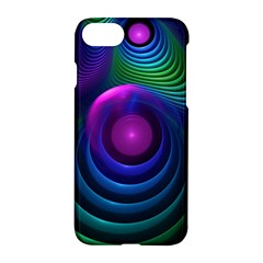Beautiful Rainbow Marble Fractals In Hyperspace Apple Iphone 8 Hardshell Case by jayaprime