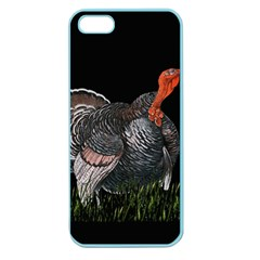 Thanksgiving Turkey Apple Seamless Iphone 5 Case (color) by Valentinaart