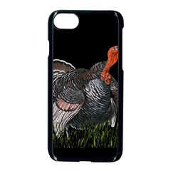 Thanksgiving Turkey Apple Iphone 8 Seamless Case (black) by Valentinaart