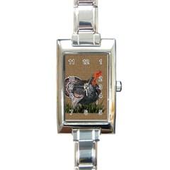 Thanksgiving Turkey Rectangle Italian Charm Watch by Valentinaart