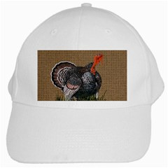 Thanksgiving Turkey White Cap by Valentinaart