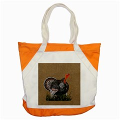 Thanksgiving Turkey Accent Tote Bag by Valentinaart
