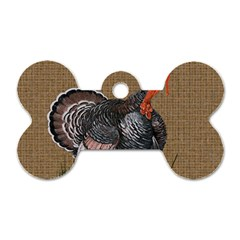 Thanksgiving Turkey Dog Tag Bone (two Sides) by Valentinaart