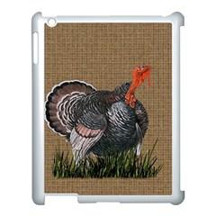 Thanksgiving Turkey Apple Ipad 3/4 Case (white) by Valentinaart